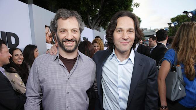 Judd Apatow and Paul Rudd at Columbia Pictures 'This is The End' Premiere on Monday, June, 3, 2013 in Los Angeles. (Photo by Eric Charbonneau/Invision for Columbia Pictures/AP Images)