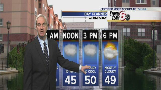 Chilly Wednesday with highs reaching only 50