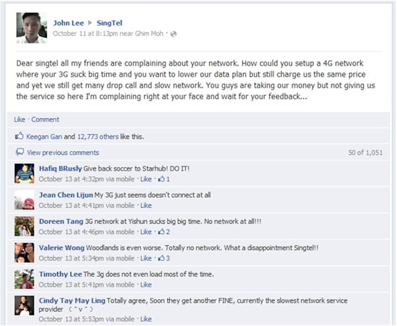 SingTel suscriber John Lee's vent goes viral.