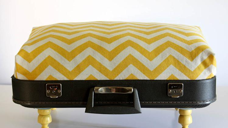 12 incredible pet beds on Etsy chevron suitcase
