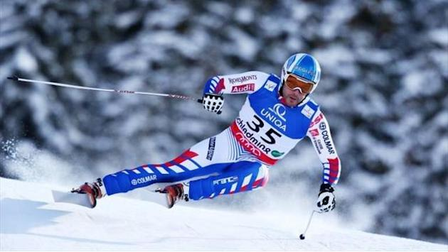 Alpine Skiing - Roger tops downhill training in Austria