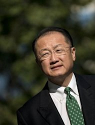 <p>Incoming World Bank President Jim Yong Kim walks to the World Bank in Washington, DC. Kim, a former president of Dartmouth College, took over as World Bank president replacing Robert Zoellick.</p>