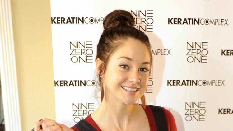 Shailene Woodley poses at the Keratin Complex pop-up salon at the Fender music lodge during the Sundance Film Festival on Friday, Jan. 18, 2013, in Park City, Utah. (Photo by Jack Dempsey/Invision for Fender/AP Images)