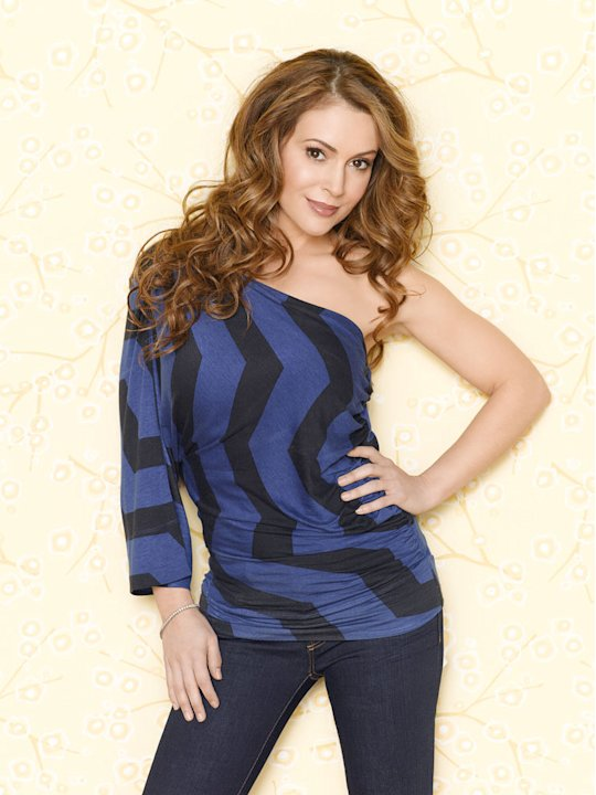 "Alyssa Milano stars as Rebecca Thomas in ""Romantically Challenged."""