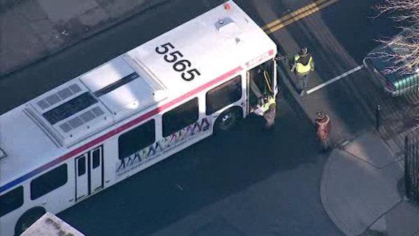SEPTA bus, bicycle accident leaves teen hurt in Wissinoming