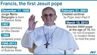 Biography of the new pope (90 x 51 mm)