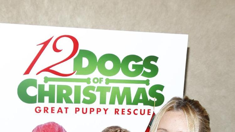 "IMAGE DISTRIBUTED FOR SONY PICTURES HOME ENTERTAINMENT - Actress Alli Simpson is seen at the ""12 Dogs of Christmas: Great Puppy Rescue"" sneak preview on Thursday, Oct. 4, 2012, in Los Angeles.  (Photo by Joe Kohen/Invision for Sony Pictures Home Entertainment/AP Images)"