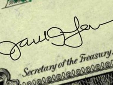 Jacob Lew's New Signature