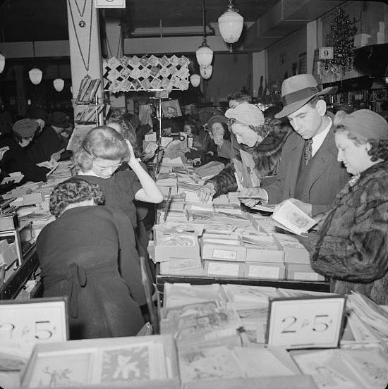 Monochromes: Nightmare at Woolworth's: a 1941 Holiday Shopping Frenzy