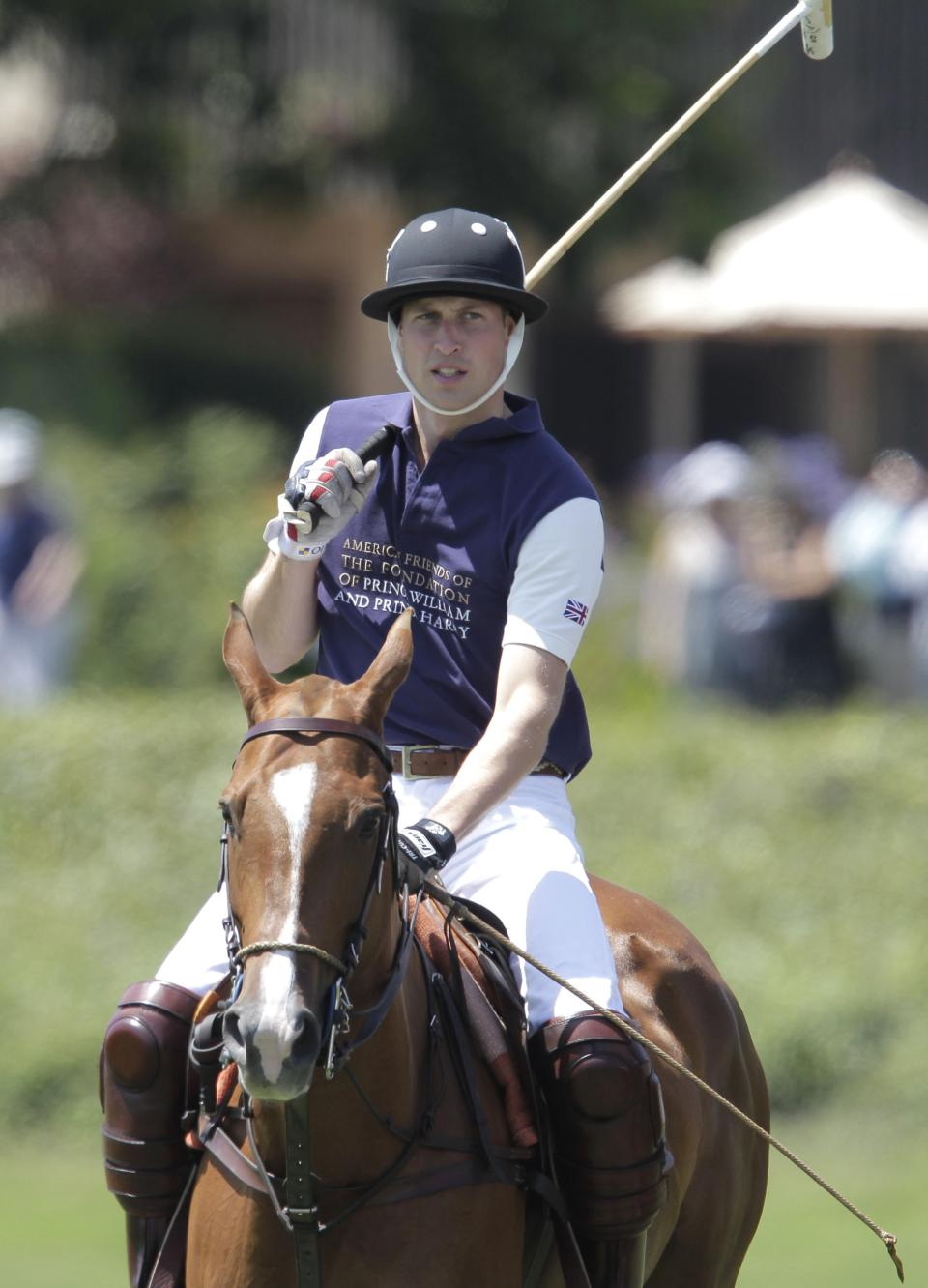 Prince William, Duke of Cambridge is shown prior to the start of the charity polo match at The Santa Barbara Polo & Racquet club on Saturday, July 9, 2011 in Carpinteria Calif.  The event is held in support of The American Friends of The Foundation of Prince William and Prince Harry. (AP Photo/Jae Hong)