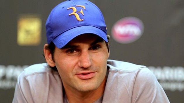 Roger Federer fields questions from the media at a press conference during the BNP Paribas Open at the Indian Wells Tennis Garden (AFP)