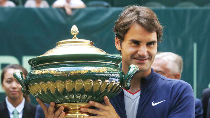 Federer beats Falla for 7th Gerry Weber Open title