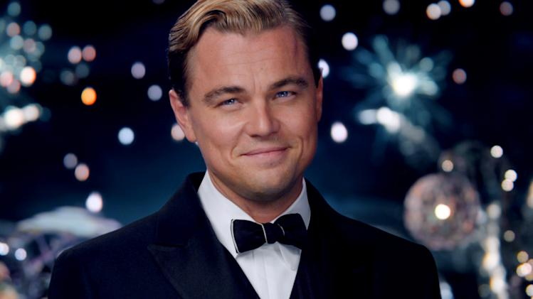 "This film publicity image released by Warner Bros. Pictures shows Leonardo DiCaprio as Jay Gatsby in a scene from ""The Great Gatsby."" (AP Photo/Warner Bros. Pictures)"