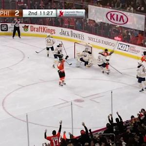Simmonds lights the lamp