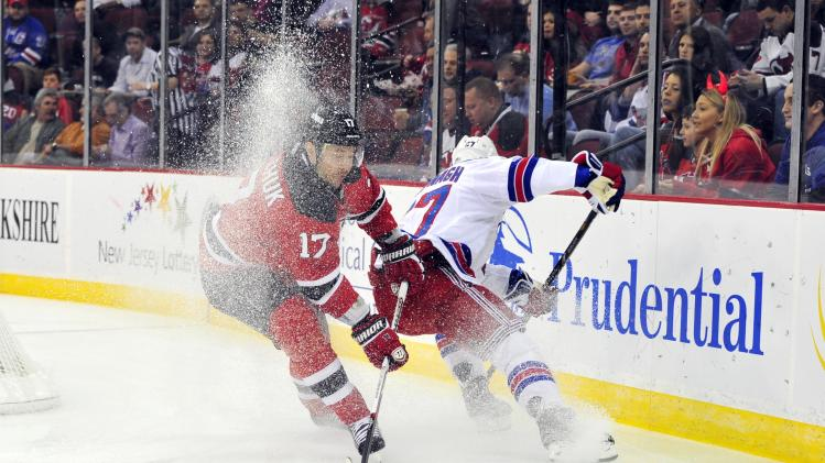 NHL: New York Rangers at New Jersey Devils