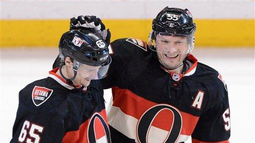 Gonchar scores winner for Senators against Caps