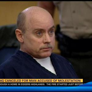 Hearing cancled for man accused of molestation