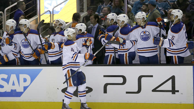 Marleau's goal lifts Sharks past Oilers 5-4