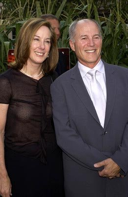 Kathleen Kennedy and Frank Marshall at the New York premiere of Touchstone's Signs