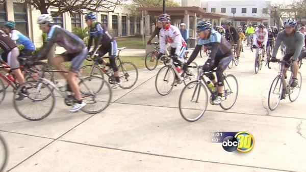 Valley bicyclists ride in tribute to Jim Healy