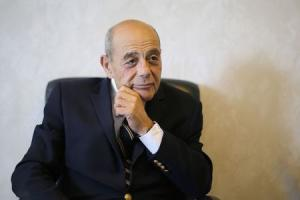 """Vincent """"Buddy"""" Cianci, former mayor and current mayoral candidate of Providence, answers a question during an interview with Reuters in his campaign headquarters in Providence"""
