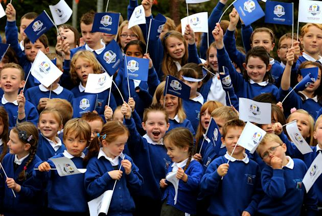 Golf - Launch of the Ryder Cup education programme - Auchterarder Primary School