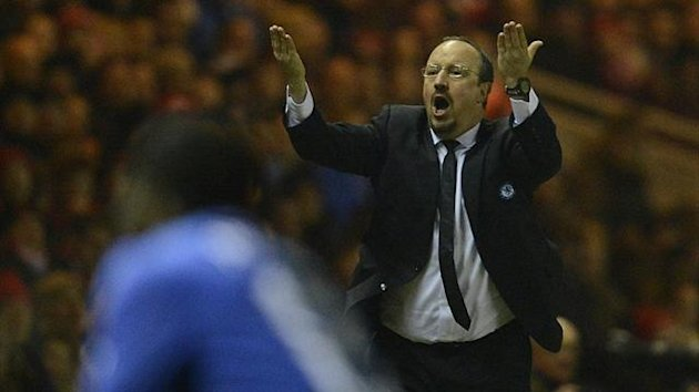 Chelsea coach Rafael Benitez reacts during their FA Cup match against Middlesbrough (Reuters)