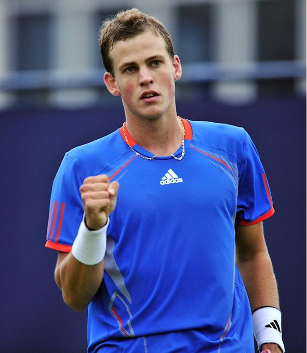 Vasek Pospisil Of Canada Reacts  AFP/Getty Images
