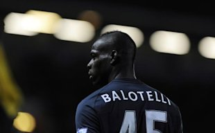 Manchester City's Mario Balotelli looks on during their English Premier League soccer match against Blackburn Rovers in Blackburn