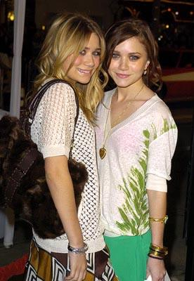 Mary-Kate Olsen and Ashley Olsen at the LA premiere of Warner Bros.' Starsky & Hutch