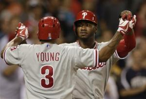 Phillies top Padres 7-5 with unearned runs in 13th