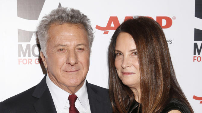 Dustin Hoffman and Lisa Hoffman attend AARP The Magazine's 12th Annual Movies for Grownups Awards at The Peninsula Hotel on February 12, 2013 in Beverly Hills, California. (Photo by Todd Williamson/Invision for AARP Magazine/AP Images)