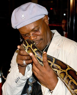 Samuel L. Jackson at the LA premiere of New Line Cinema's Snakes on a Plane