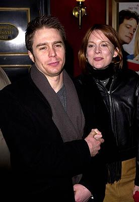 Sam Rockwell and Laurel Holloman at the New York premiere of Miramax's Bridget Jones's Diary
