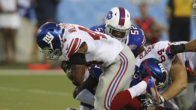 Giants rally to beat Bills 17-13 in HOF Game