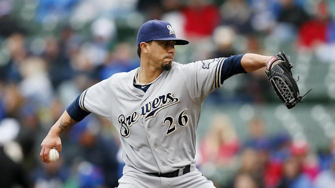 Lohse helps Brewers beat Cubs 4-3