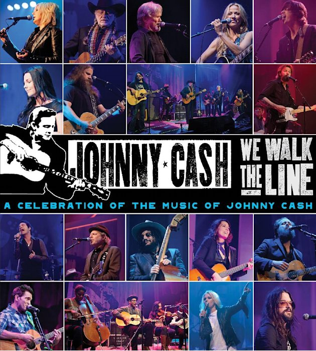 "This CD cover image released by Legacy Recordings shows ""We Walk the Line: A Celebration of the Music of Johnny Cash,"" a tribute to the late Johnny Cash. (AP Photo/Legacy)"