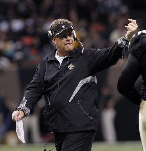 "FILE - In this Dec. 12, 2010 file photo, New Orleans Saints defensive coordinator Gregg Williams gestures in the second half of an NFL football game aainst the St. Louis Rams, in New Orleans. A newly released recording purports to capture former Saints defensive coordinator Williams telling players to ""put a lick"" on San Francisco's Kyle Williams to see if the receiver has lingering effects from an earlier concussion. (AP Photo/Gerald Herbert, File)"