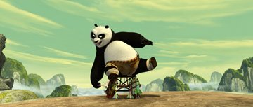 Po (voiced by Jack Black ) in DreamWorks Animation's Kung Fu Panda