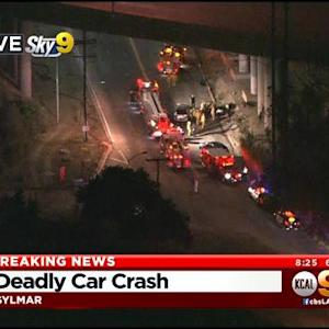 2 Dead, 1 Seriously Hurt In Sylmar Crash