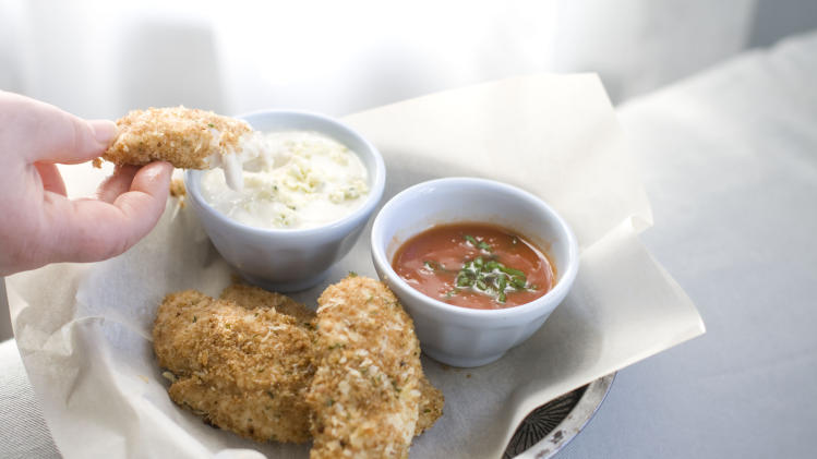 In this image taken on Jan. 7, 2013, Buffalo chicken tenders are shown in Concord, N.H. (AP Photo/Matthew Mead)