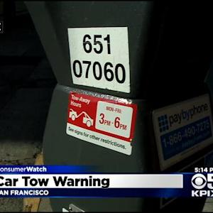 SF Picks Low Tech Solution To Warn Drivers Of Towing Rules