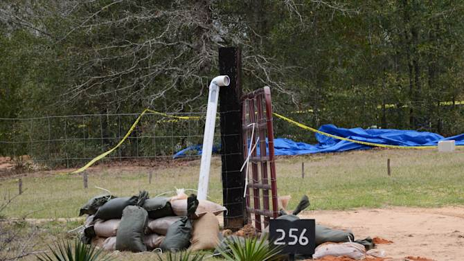 This undated photo released by the FBI on Tuesday, Feb. 5, 2013, shows the pipe FBI agents and Dale County negotiators used to communicate with Jimmy Lee Dykes while he held a 5-year-old boy hostage in a bunker on his Midland City, Ala. property for a week. The pipe was also used to send food, medicine, and other items into the bunker. The boy was rescued and his captor was killed when federal agents raided the bunker on Monday. (AP Photo/FBI)