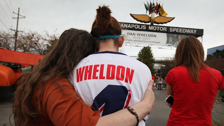 Fans Gather At Brickyard To Mourn Indy Champion Dan Wheldon