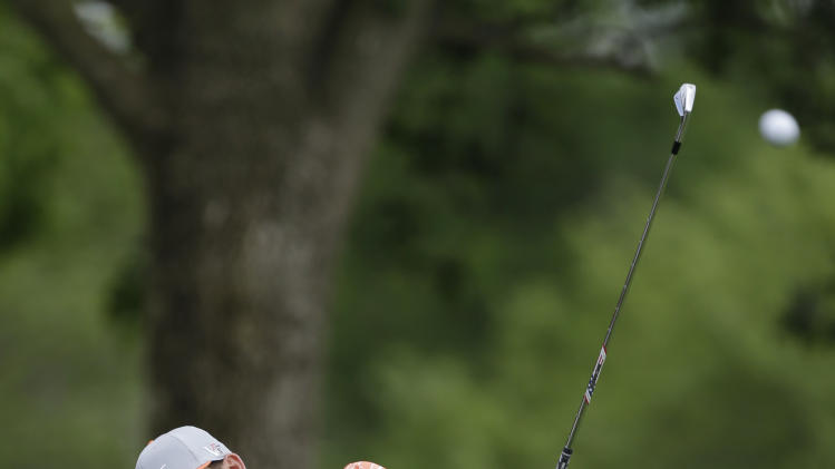 Kevin Chappell hits from the 10th fairway during the final round of the Memorial golf tournament on Sunday, June 2, 2013, in Dublin, Ohio. (AP Photo/Darron Cummings)