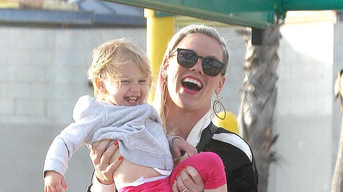 Pink Hits Venice Beach with Family