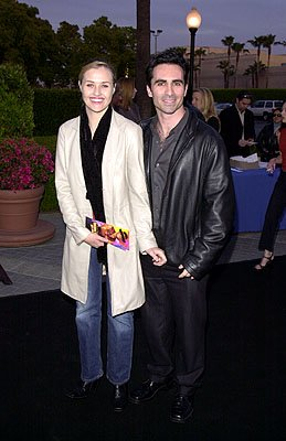 Premiere: Nestor Carbonell and gal at the LA premiere of Paramount's Crocodile Dundee In Los Angeles - 4/18/2001
