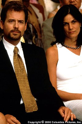 Greg Kinnear portrays Perry Gordon, a horny, morally challenged specimen of a human male, and Linda Fiorentino portrays Helen, Perry's sexually aggressive wife, in the Columbia Pictures presentation,