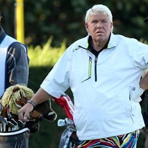 John Daly in front of 500 cases of Miller Lite