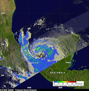 Ernesto's Heavy Rainfall Measured from Space